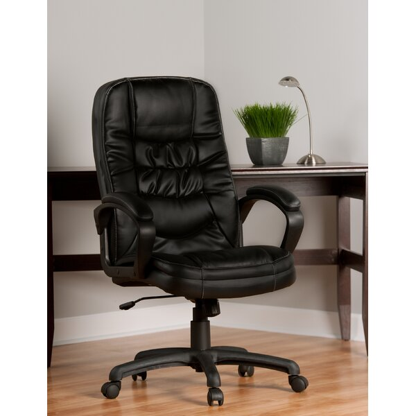 Mid-Back Leather Desk Chair by Comfort Products