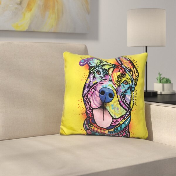 Rescue Dog Throw Pillow by East Urban Home