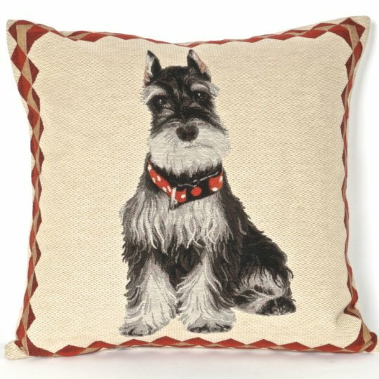 Bonilla Tapestry Schnauzer Pillow Cover by Red Barrel Studio
