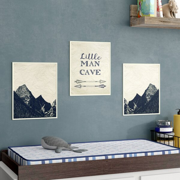 Campion Man Cave Arrows and Mountains Decorative Plaque (Set of 3) by Harriet Bee