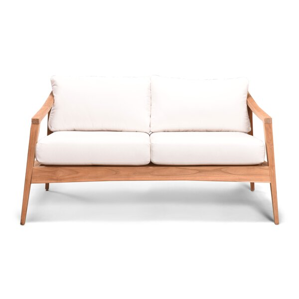 Hogue Teak Loveseat with Sunbrella Cushions by Rosecliff Heights