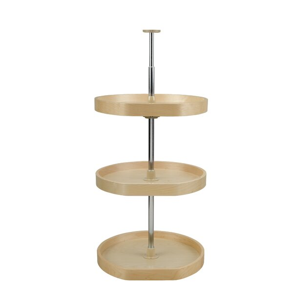Banded Wood D Shape 3 Shelf Lazy Susan by Rev-A-Shelf