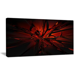 'Beautiful Red 3D Crystal Design' Graphic Art Print on Wrapped Canvas by Design Art