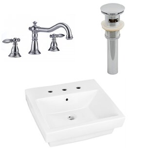 Purchase Ceramic Rectangular Bathroom Sink with Faucet and Overflow ByRoyal Purple Bath Kitchen