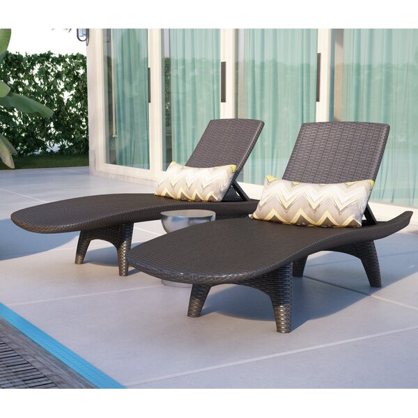 Clarita Reclining Chaise Lounge (Set of 2) by Wade Logan