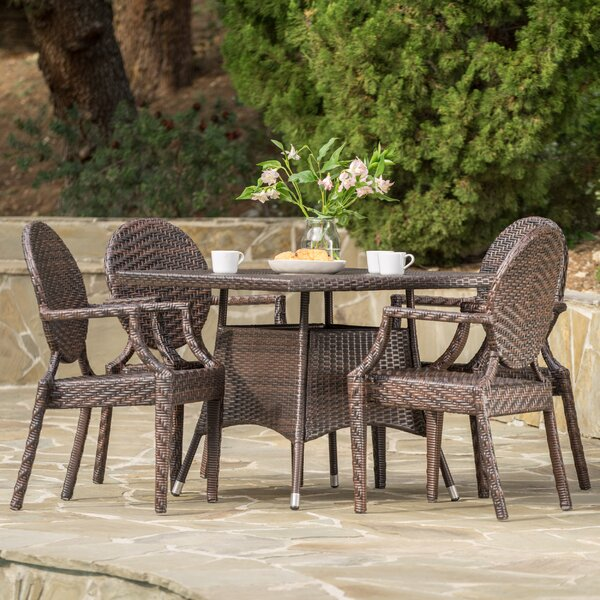 Hambly 5 Piece Dining Set by Latitude Run