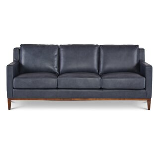 Cornish Genuine Leather Sofa by Foundry Select