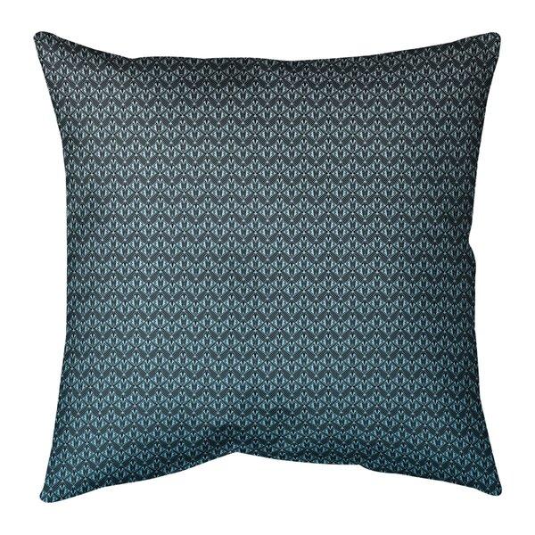 Avicia Ombre Art Deco Indoor/Outdoor Throw Pillow