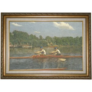 'The Biglin Brothers Racing 1872' Framed Print on Canvas by Historic Art Gallery