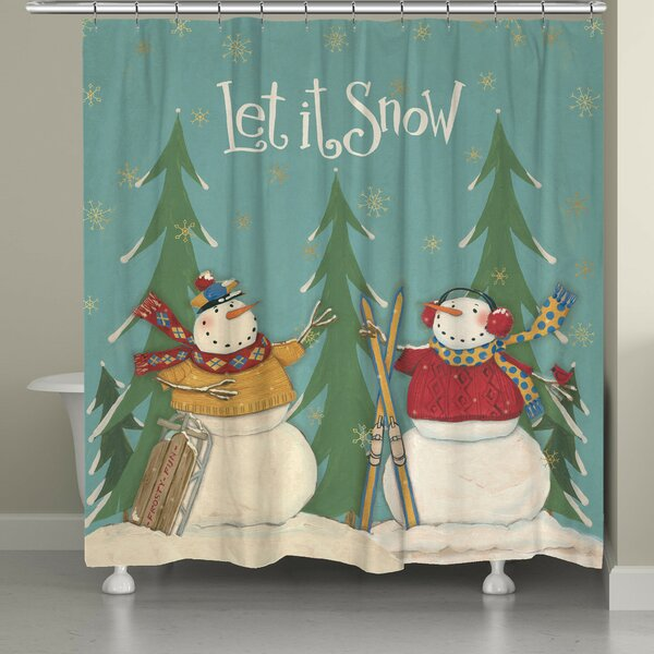 Let It Snow Shower Curtain by The Holiday Aisle