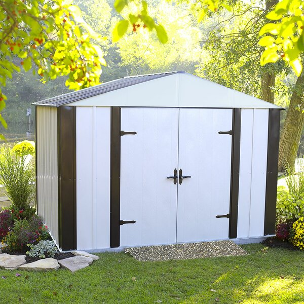 Designer Series 10 ft. 3 in. W x 8 ft. 4 in. D Metal Storage Shed by Arrow
