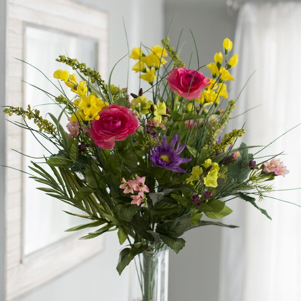 30 Stems Mixed Floral Arrangement by August Grove