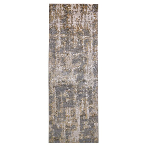 Reichenbach Abstract Gold/Sterling Area Rug