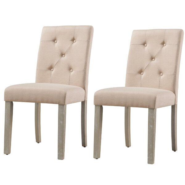 Jibril Tufted Upholstered Parsons Dining Chair (Set of 2) by Winston Porter Winston Porter