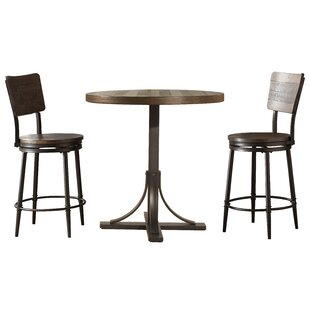 Comparison Putney 3 Piece Counter Height Breakfast Nook Dining Set By Gracie Oaks