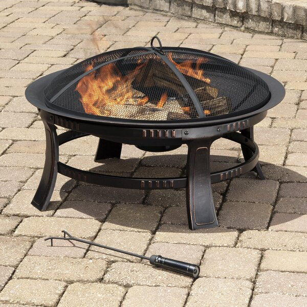 Tamil Wood Burning Circular Fire Pit In Rubbed Bronze By Ebern Designs