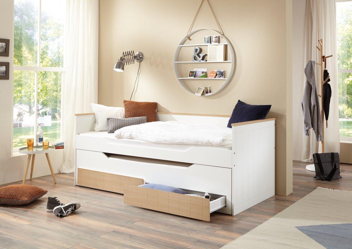Relita funktionsbett ronny mit stauraum 90 x 200 cm for Jugendzimmer mit funktionsbett