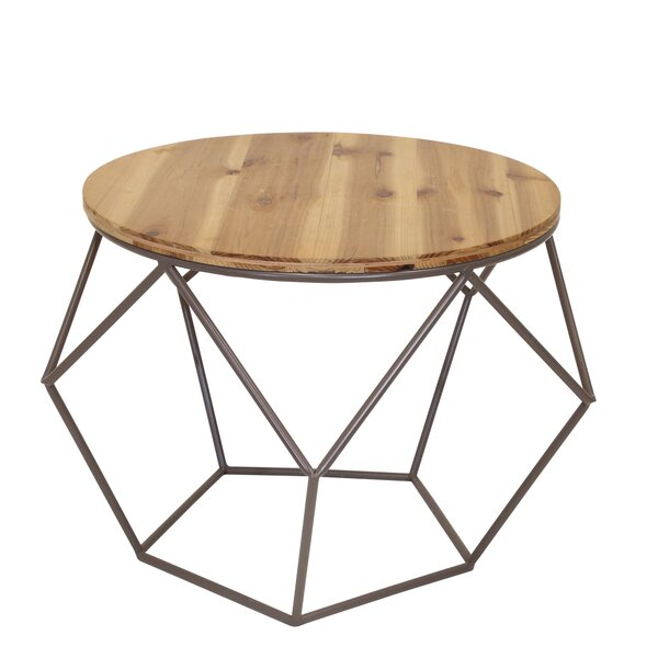Review Garen Wood Top End Table