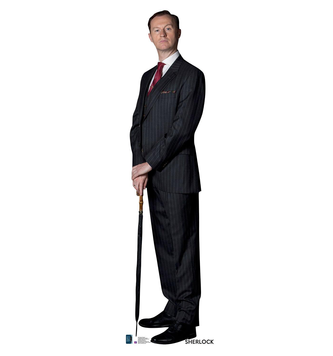 Advanced Graphics Mycroft Holmes from Sherlock Life Size Cardboard ...