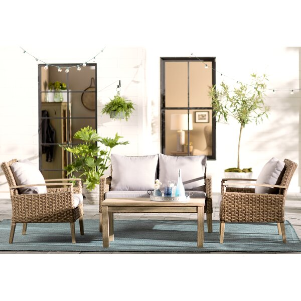 Canonsburg 4 Piece Sofa Seating Group with Cushions by Gracie Oaks