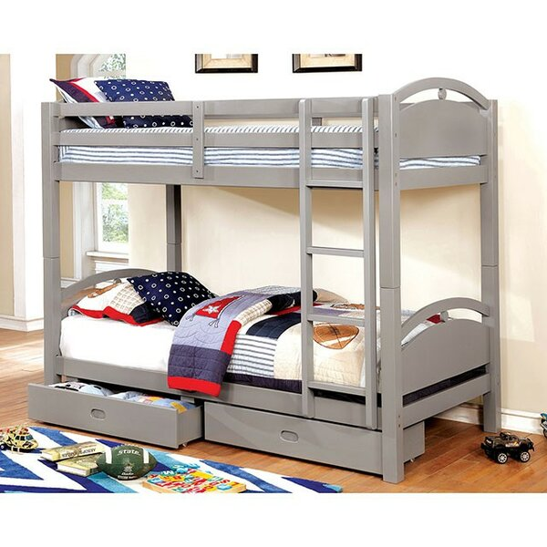 Florida Twin over Twin Bunk Bed with Drawers by Harriet Bee