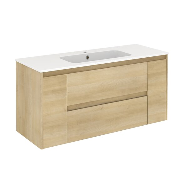 Ambra 48 Wall-Mounted Single Bathroom Vanity Set by WS Bath Collections