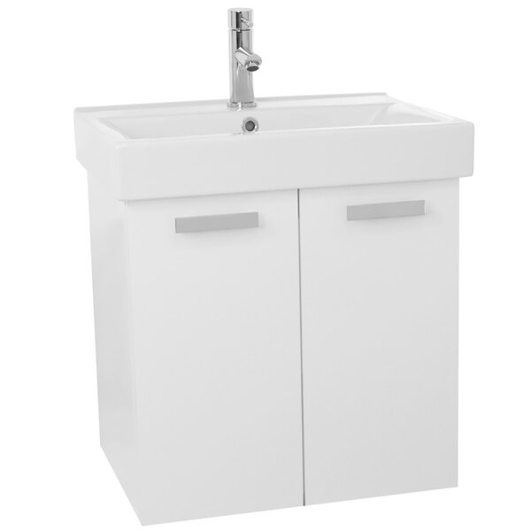 Cubical 24 Single Wall Mount Bathroom Vanity Set by Nameeks Vanities