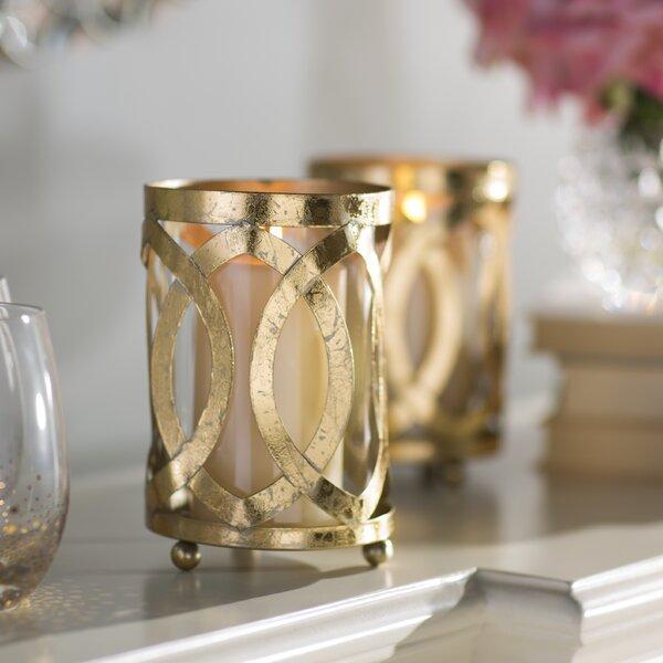 Styled Metal Glass Hurricane by Willa Arlo Interiors