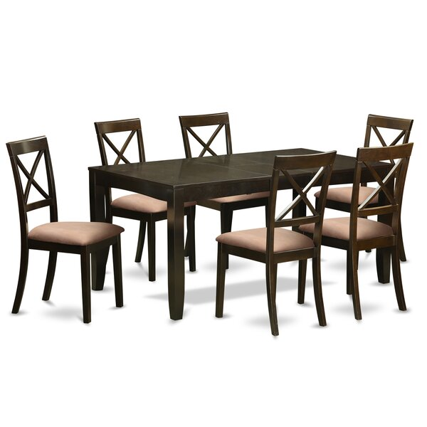 Lynfield 7 Piece Extendable Dining Set by East West Furniture
