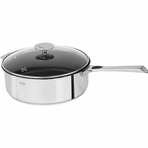 Casteline Nonstick Saute Pan with Lid by Cristel