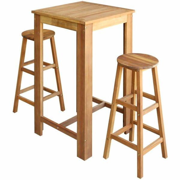 Clotilde 3 Piece Pub Table Set by Winston Porter