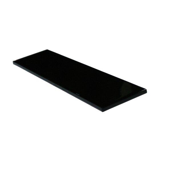 Metro 3 x 12 Glass Field Tile in Black by Abolos
