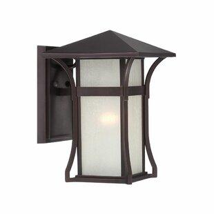 Best Price Herbst 1-Light Outdoor Sconce By Bloomsbury Market