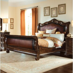 Evelyn Upholstered Sleigh Bed by Astoria Grand