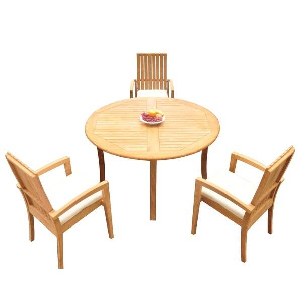 Wilkes 4 Piece Teak Dining Set by Bayou Breeze