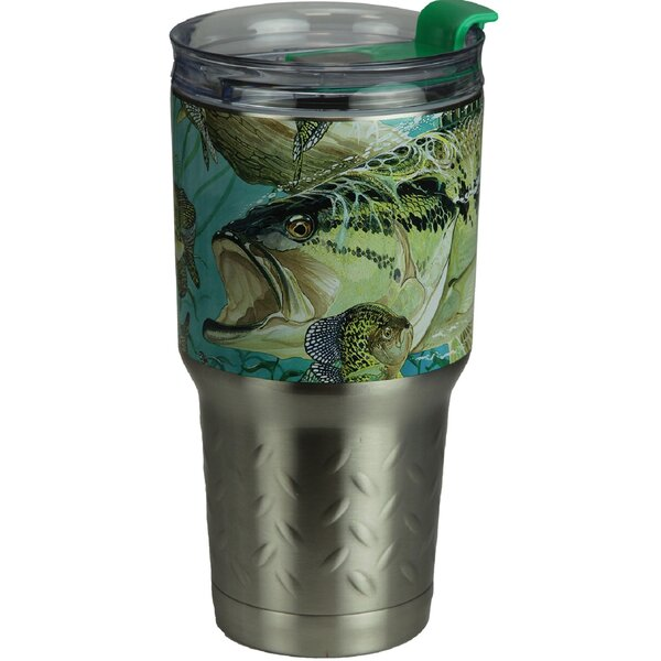 Wanner Bass 24 oz. Stainless Steel Travel Tumbler by Millwood Pines