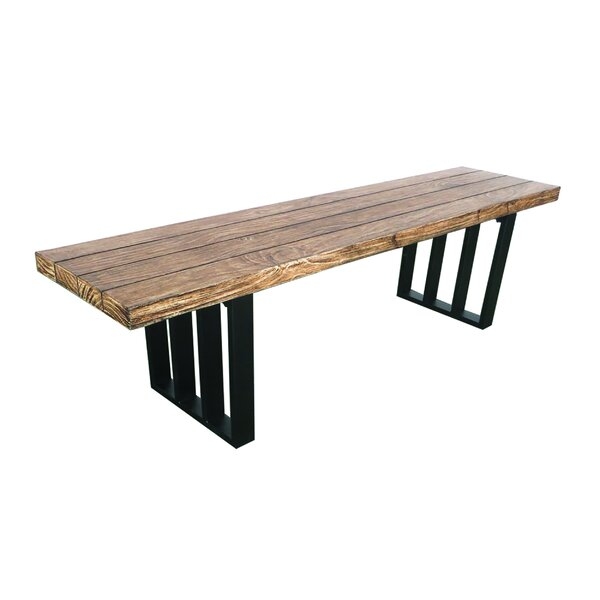 Onion Creek Metal Picnic Bench by Union Rustic Union Rustic