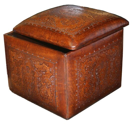 Navarette Leather Cube Ottoman By Astoria Grand