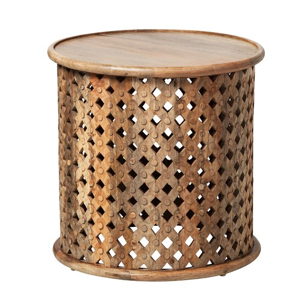 Jaipur Reclaimed Teak End Table by Design Tree Home
