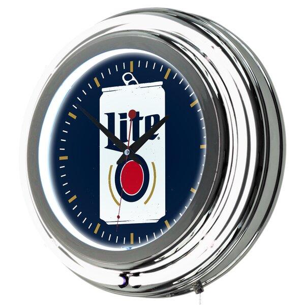 Miller Lite Minimalist Neon 14.5 Wall Clock by Trademark Global