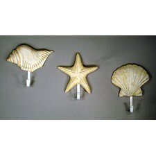 3 Piece Shell Wall Hook Set by Judith Edwards Designs