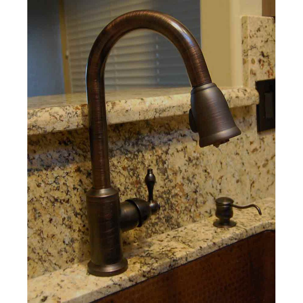 Copper kitchen faucets pull out - Single Handle Kitchen Faucet With Pullout Spray