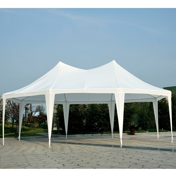 16.5 Ft. W x 23 Ft. D Steel Party Tent by Outsunny