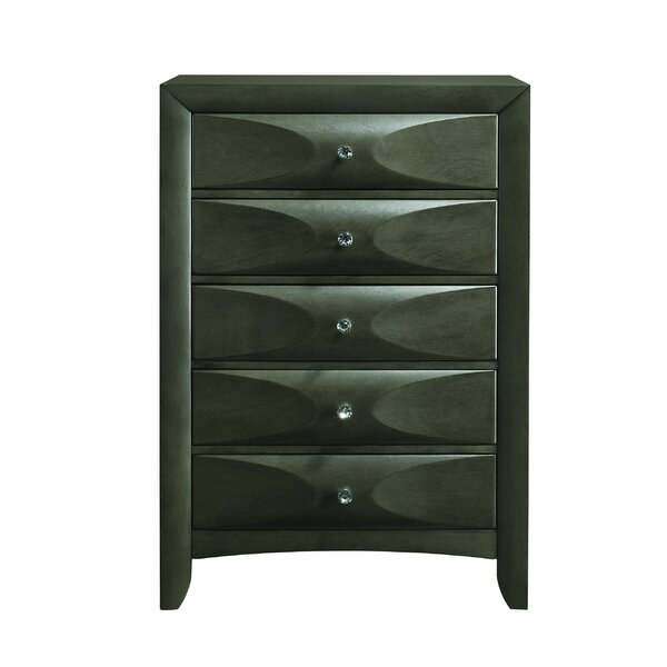 Fodor 5 Drawer Chest by Winston Porter