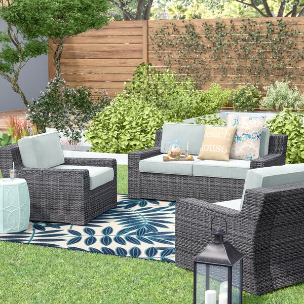 Linwood 3 Piece Sofa Seating Group with Cushions by Beachcrest Home