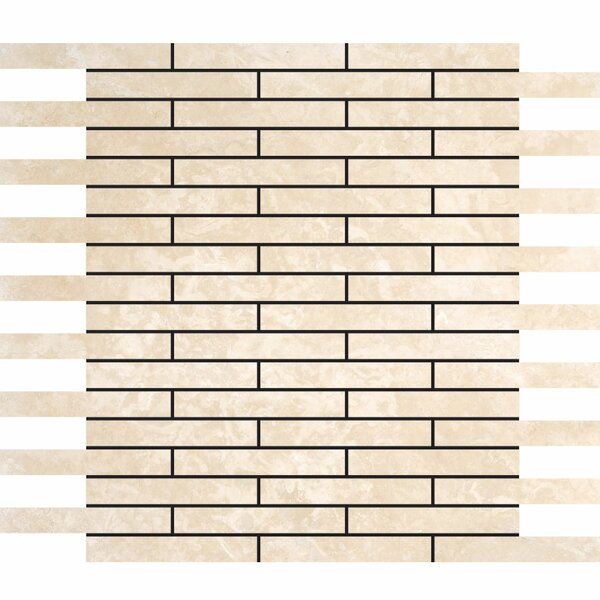 0.625 x 4 Stone Mosaic Tile in Ivory by Parvatile