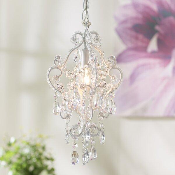 Alida 1-Light Crystal Pendant by House of Hampton