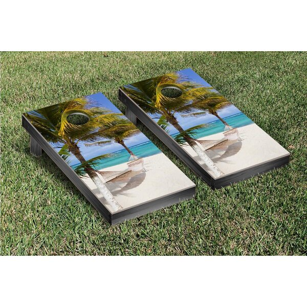 Hammock On The Beach Version 2 Cornhole Game Set by Victory Tailgate