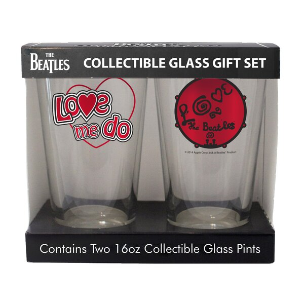 Beatles Love 2 Piece Collectible Pint Glass Set by Boelter Brands