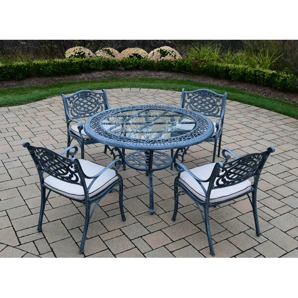 Mississippi 5 Piece Dining Set with Cushions by Oakland Living